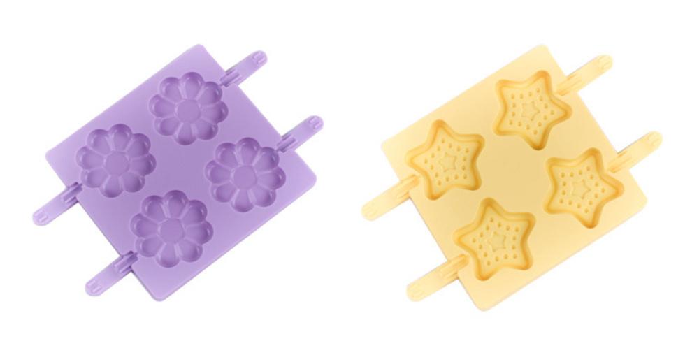 Flower Chocolate Lollipop Silicone Mold (5)