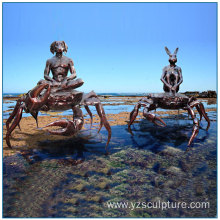 Outdoor Large Abstract Sea life Bronze Crab Sculpture