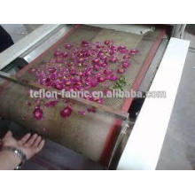 Customized teflon open mesh belt 4X4mm dryer conveyor belt for T-shirt garment clothes textile machine