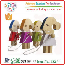 Handmade Cute Wooden Hamster Girls Skipping Rope Girls Crafts for customize