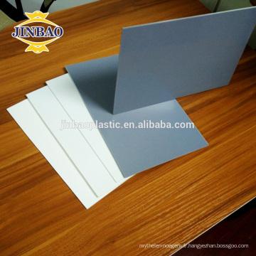 JINBAO pvc matériel gris 8mm 5mm acide et alcali résistant pvc rigide