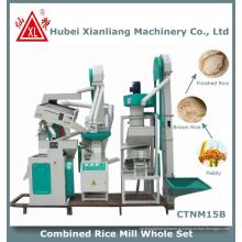 Zct1000 uso doméstico moderno mini planta de arroz no Paquistão