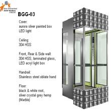 Elevador panorámico de vidrio para pasajeros