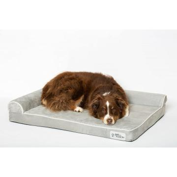 Comfity Memory Foam Dog Bed رمادي