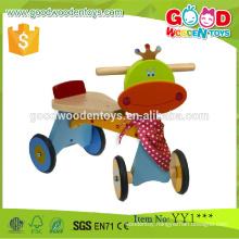 2015 New Brand Fancy Design 4-Wheels Vehicle Toy Wood Kids Bike