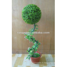 Bonsaï artificiel de boule d'herbe pour la décoration de jardin, usine artificielle