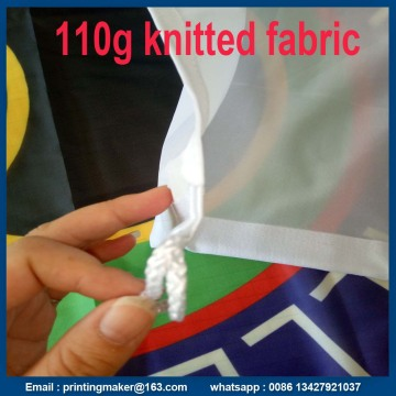 Custom 110 G Rajutan Polyester Fabric Advertising Flags