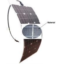 Módulo de panel solar flexible suave de 18V 80W ETFE Sunpower