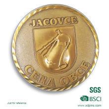Brass Souvenir Coins with Diamond Edge