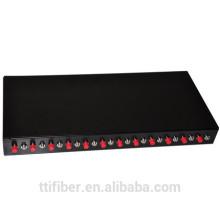 Panel de conexión de fibra de 24 polos de núcleo FC / caja de terminación