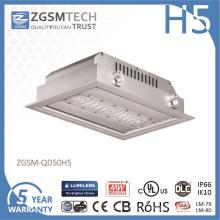 IP66 imperméabilisent l'intense luminosité légère de station service de 50 watts LED