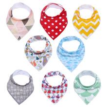 100% algodão super absorvente bebê bandana baba babadores bebê bandana bibs baby bibs bandana