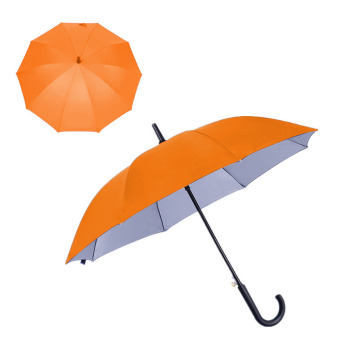 Cheap Promotion Straight Umbrella Automatic Silver Coating Umbrella