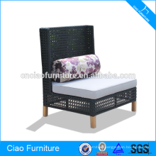Cow eye weaving rattan armless chair