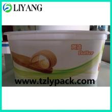 Conception adaptée aux besoins du client, Iml pour la boîte à beurre en plastique