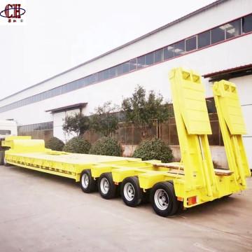 4-х полосный 8-осный трейлер с низкорамной платформой в 150 тонах