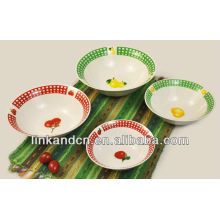 beautiful and colorful ceramic bowl with decal