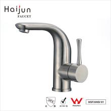 Haijun fábrica de China de acero inoxidable de agua potable solo manejar lavabo grifo