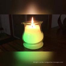 Customized wholesale luxury wedding candle black glass candle