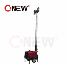 Portable Construction Solar Light/Lighting Tower Diesel 2000 Watt Generator Kubota