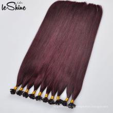 Meistverkaufte höchste Qualität 100% Remy flache Spitze Keratin Haarverlängerung