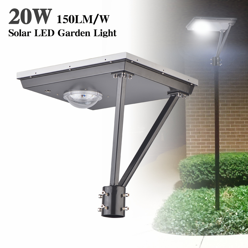 20W Solar Led Post Top Lamps 5000K