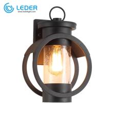 LEDER Black Outdoor Led Wall Lamp