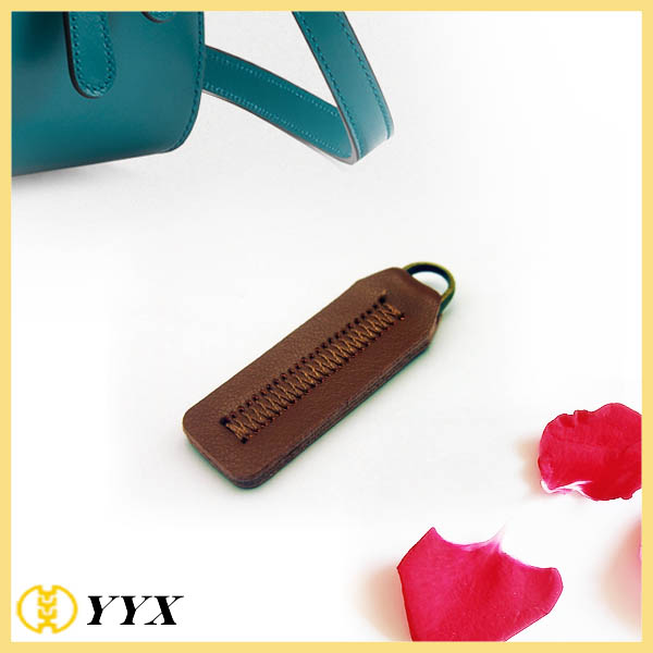 Leather zipper puller