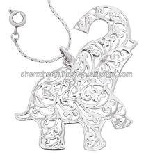 Venta al por mayor del acero inoxidable del colgante del elefante de la alta calidad