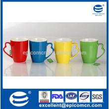 2014 lifelike high quality new bone china 12oz drinking mug with ear like handle for daily use