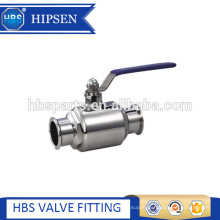 food grade sanitary stainless steel clamp directly two way ball valve