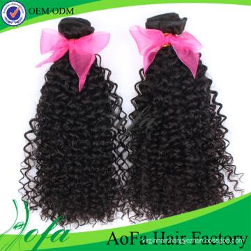 2016 Fashion Natural Brazilian Kinky Curly Remy Virgin Human Hair Extension
