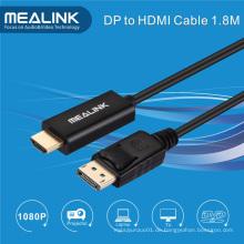 1.8m Vergoldete Displayport Dp zu HDMI Kabel