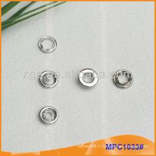 Prong Snap Button / Gripper avec bouchon d'anneau de mode MPC1033