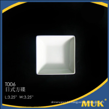2016 modern good quality rotating white small plate for hotel