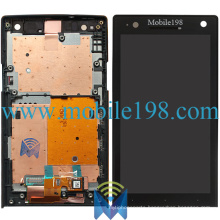 LCD and Touch Screen with Front Housing for Sony Xperia S Lt26I