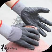 15 калибровочных трикотажных нейлона и спандекса 3/4 черных высокотехнологичных пенных нитриловых перчаток / рабочих перчаток