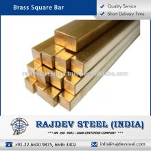 De alta calidad, varios tamaños de latón barra cuadrada a bajo precio de mercado