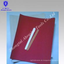 Nagelfeile aus Holz und rotem Sandpapier