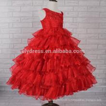 Красный оборками Шику Шику блестки юбка бальное платье девушки цветка Подгонянная FGZ06 симпатичные девушки платья Ever !