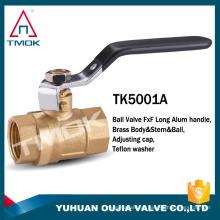 corpo de latão 600 wog com forjado e niple para água niquelado união NPT conexão roscada válvula de esfera de bronze cw617n