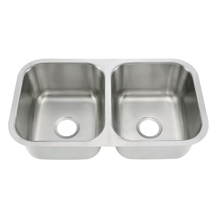 Double Bowl Corner Sink