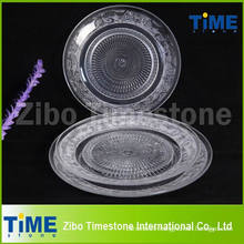 Clear Round Glass Charger Plate for Pizza Dessert