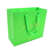 customized luxe shopping paper bag with gloss lamination