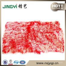 Wholesale Handmake lange Haare mongolischen Schaffell Fell Plate