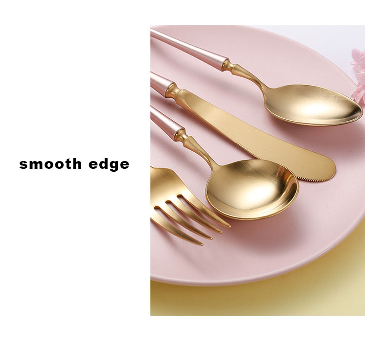 gold Flatware Set Matte Silverware