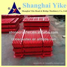 Bewegliche / schwenkbare und feste Backenplatte von PE250X400, PE150X250, PE250X1200, PE250x1000 Bergbau qurry Stein Backenbrecher