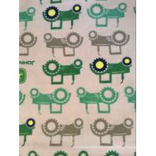 Tela de la franela del algodón orgánico de la alta calidad 100 de los niños para el bebé