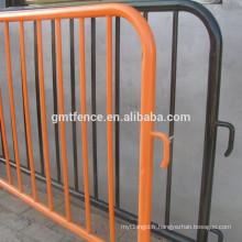 Barrière de contrôle de foule provisoire des jambes amovibles