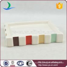 YSb40073-01-sd Produto novo produtos de banheiro personalizados, prato de cerâmica por atacado de sabão